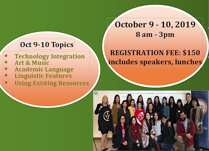 Professional Development for Language Teachers Oct 9-10, 2019 image