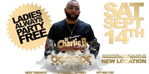 Barcode Saturdays Toronto #1 Urban Party w/ Dj Charlie B