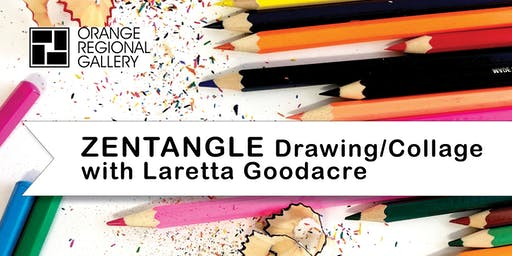 SCHOOL HOLIDAY WORKSHOP - ZENTANGLE - Drawing/Collage with Laretta Goodacre