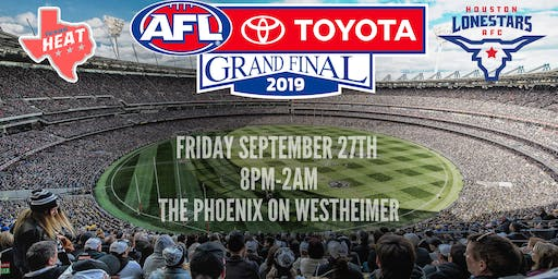 2019 AFL Grand Final Party & Fundraiser - Houston