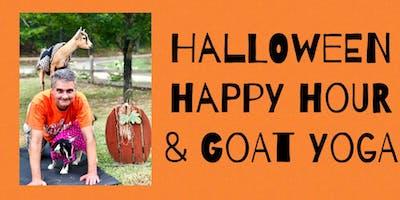 HALLOWEEN HAPPY HOUR w/Goat Yoga Bham
