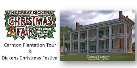 Dickens Christmas Festival & Carnton Plantation Tour tickets