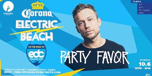 Corona Electric Beach 'Road to EDC Orlando' w/ Party Favor