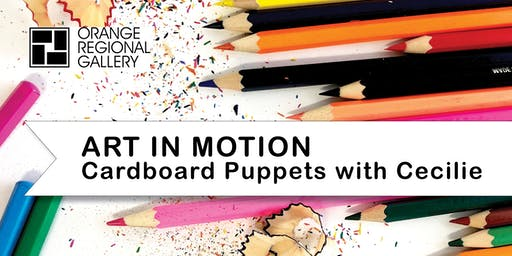 SCHOOL HOLIDAY WORKSHOP - ART IN MOTION Cardboard Puppets with Cecilie