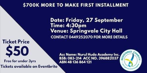 Urgent Fundraising Dinner Nurul Huda Academy