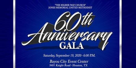 Jones Memorial UMC 60th Church Anniversary Gala tickets