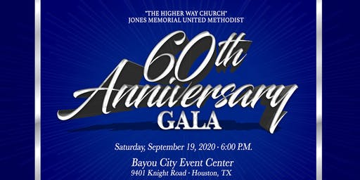 Jones Memorial UMC 60th Church Anniversary Gala