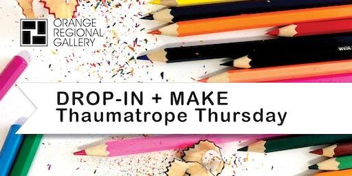 SCHOOL HOLIDAY WORKSHOP - DROP-IN + MAKE Thaumatrope Thursday