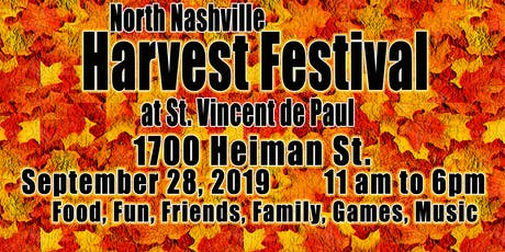Harvest Festival @ St. Vincent de Paul tickets