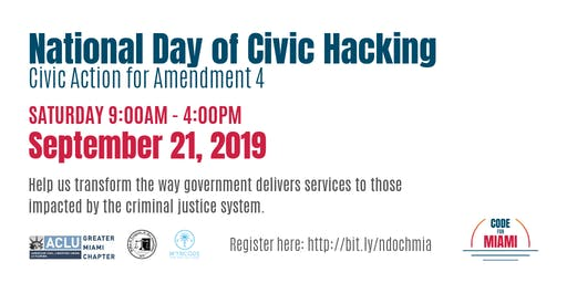 Civic Action for Amendment 4 - National Day of Civic Hacking