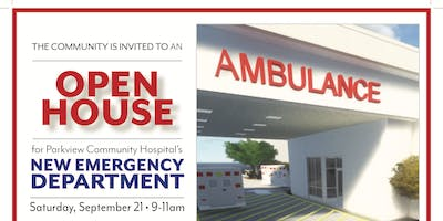 NEW EMERGENCY DEPARTMENT OPEN HOUSE! Tours, Health Screenings, Refreshments
