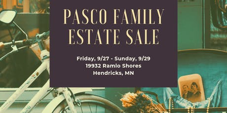 Pasco Family Estate Sale tickets