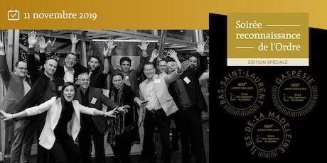 Soirée reconnaissance - édition spéciale -100e anniversaire  - Bas-Saint-Laurent billets