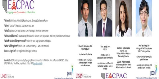 CME/CE (3 hrs): Palliative care/advance care planning in Asian Community