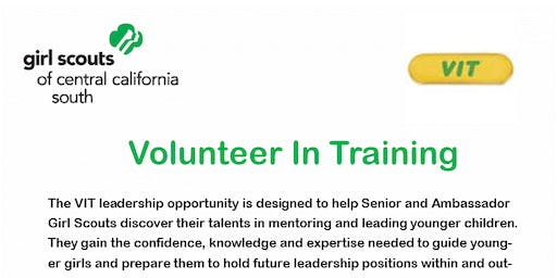 Volunteer In Training (VIT) - Senior/Ambassador - Fresno READ BLURB & Price includes