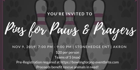 2nd Annual Pins for Paws & Prayers tickets