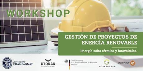 Workshop Gestión de proyectos de energía renovable entradas