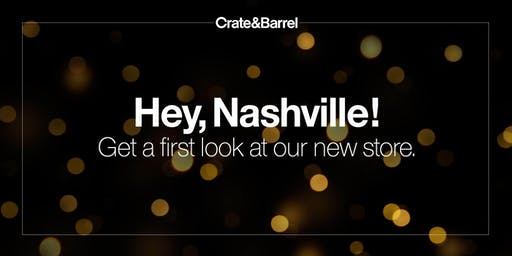 Crate and Barrel Nashville Preview and Shopping Event