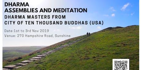 Meditation with dharma talks tickets