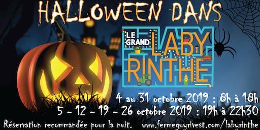 Halloween dans le Grand Labyrinthe de Lanaudière!