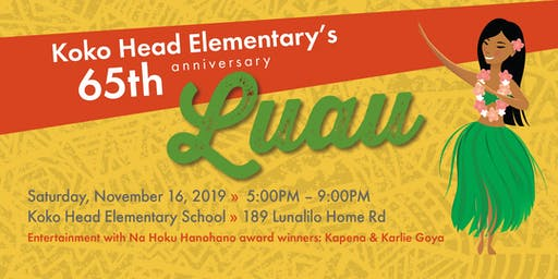 Koko Head Elementary 65th Anniversary Luau
