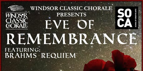 Windsor Classic Chorale - Eve Of Remembrance tickets