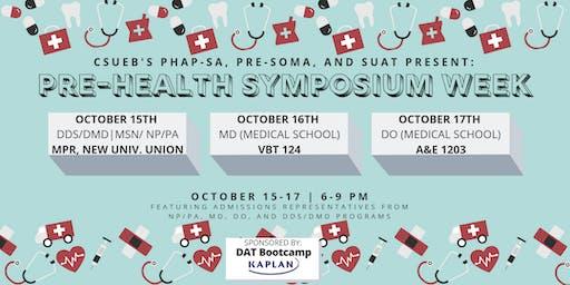 PHAP Pre-Health Symposium: MD (Medical School)