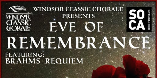 Windsor Classic Chorale - Eve Of Remembrance