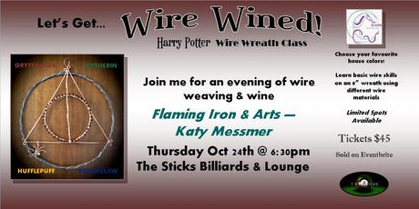 """Wire Wined"" Harry Potter Halloween Wreath Class tickets"