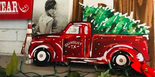 Christmas truck and tree  $35.00