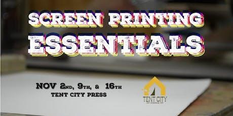 Screen Printing Essentials tickets