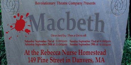 Macbeth presented by Rev Theatre Co tickets
