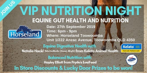 Horseland Toowoomba Equine Digestive Health and Nutrition Night