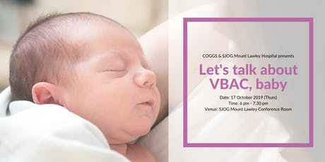 Let's talk about VBAC, baby tickets