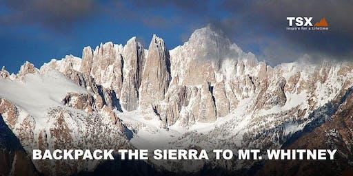 Backpack the Sierra to Mt. Whitney - REI Clackamas