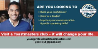 Falling for Toastmasters Open House to Gain Confidence and Find Your Voice.