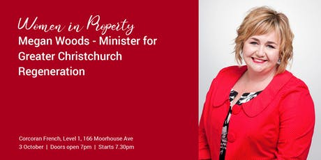 Megan Woods - Minister for Greater Christchurch Regeneration tickets