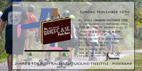 The 5th Annual BRIEFCASE PUSH RACE - All Levels Longboard Skateboard Event tickets