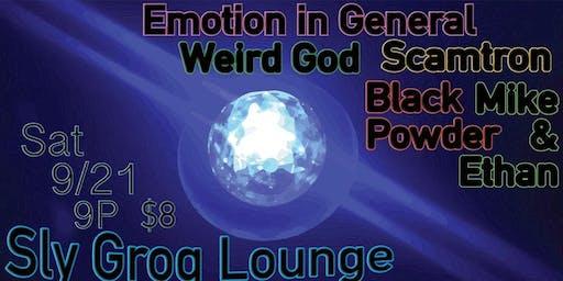 Emotion General//Weird God//Scamtron//Black Powder//Mike&Ethan