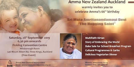 Amma New Zealand Auckland - Amma's 66th Birthday Celebration tickets