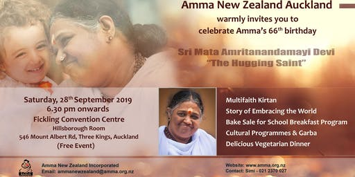 Amma New Zealand Auckland - Amma's 66th Birthday Celebration