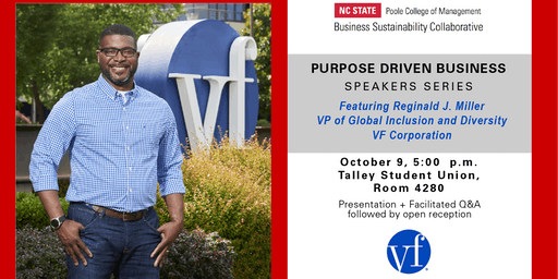 VF Purpose Driven Business Speaker Series Featuring Reginald Miller