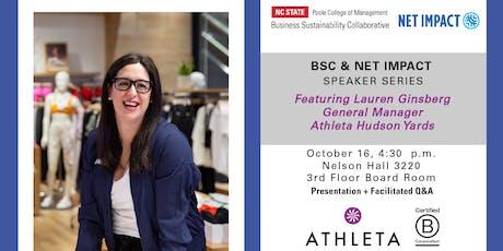 BSC Speaker Series Featuring Lauren Ginsberg of Athleta tickets