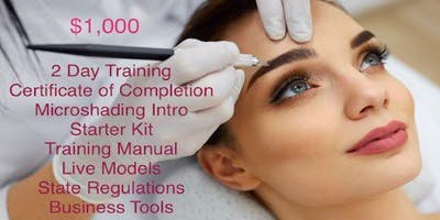 2 DAY MICROBLADING CERTIFICATE TRAINING