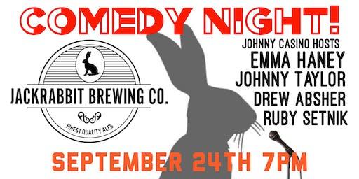 Comedy Night at Jackrabbit Brewing Co.