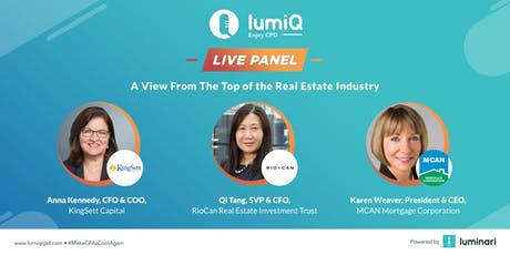 #LumiQ Live Panel: A View From The Top of the Real Estate Industry tickets
