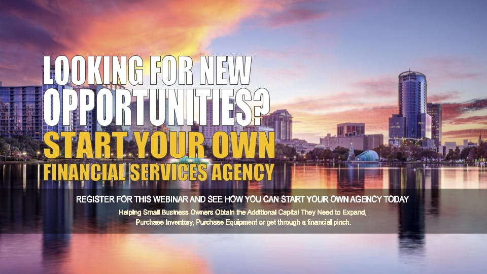 Start your Own Financial Services Agency Orlando FL