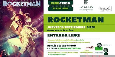 """CINE CEIBA presenta """"Rocketman"""" al aire libre entradas"""