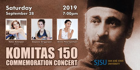 Komitas 150 Commemoration Concert SJSU tickets