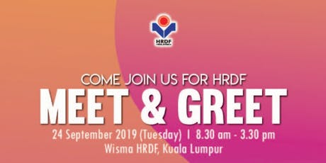 HRDF MEET & GREET tickets
